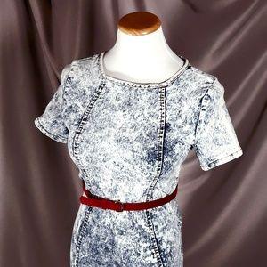 Acid Wash Bodycon Denim Dress by Roma Studio
